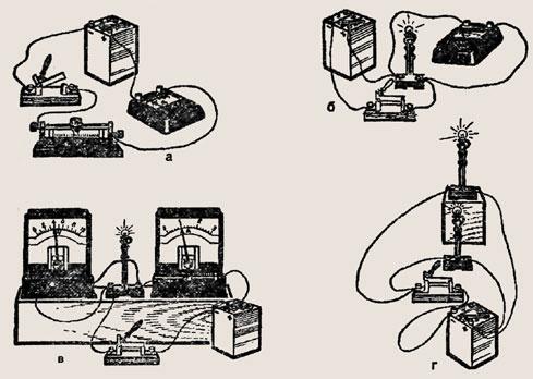 Начертите схемы установок,показанных на рисунке 332.