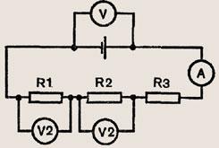 Как изменятся показания измерительных приборов в цепи, схема которой...